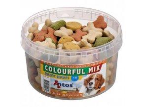 Sušenky barevný mix 1kg dóza