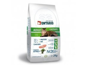 ONTARIO Cat Adult Castrate 2kg