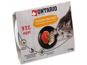 Vanička ONTARIO Cat Chicken & Beef with Taurine 115g