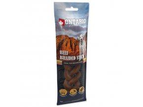Snack ONTARIO Dog Rawhide Braided Stick 15 cm
