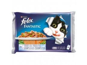 FELIX Fantastic multipack výběr z ryb se zeleninou 4x100g