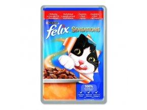 FELIX Sensations s hovězím v želé s rajčaty 100g