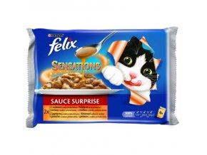 FELIX Sensations Sauces multipack krůta/jehněčí v ochucené omáčce 4x100g