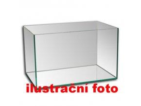 Akvárium lepené 50x25x25 cm obsah:31litrů sklo:4mm