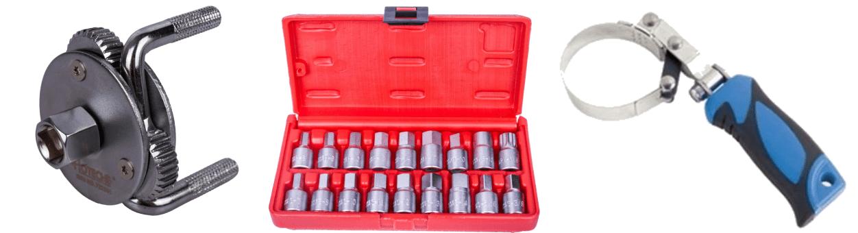 Klíče na olejové filtry a vany