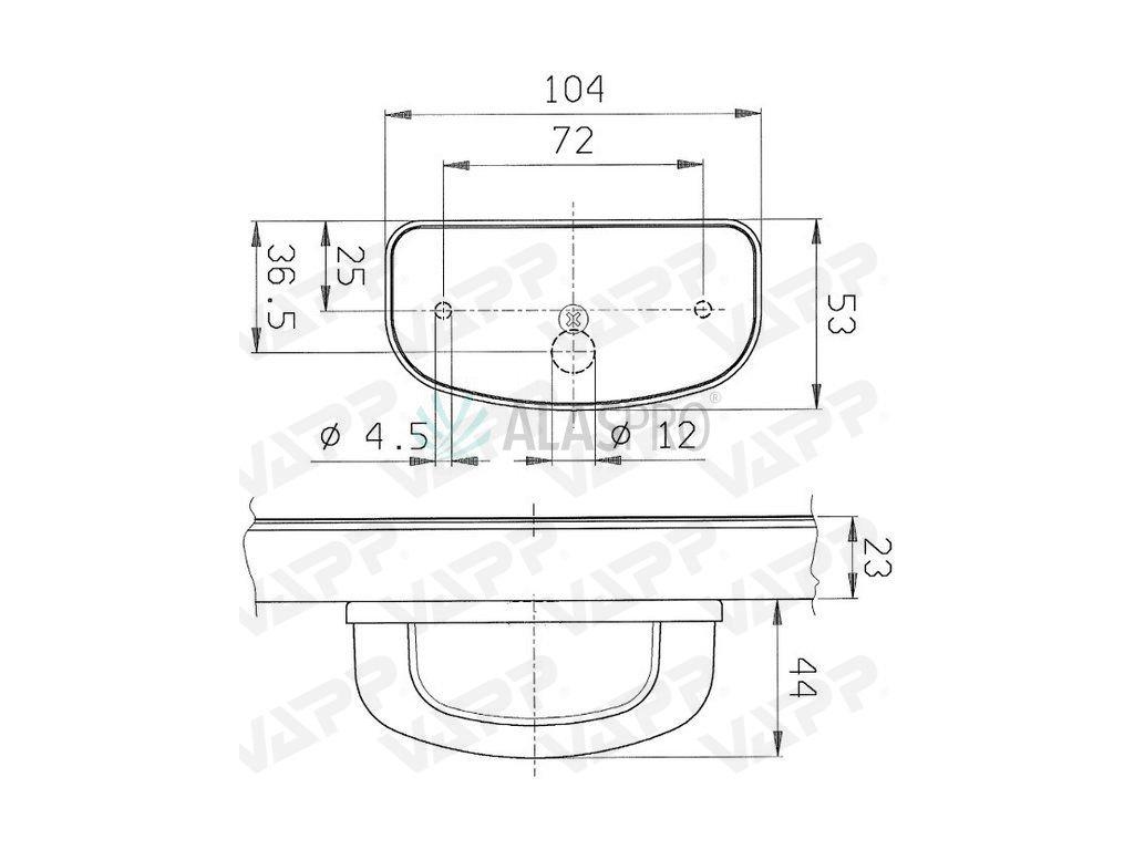 Osvětlení SPZ (registrační značky) Jokon K158 oblé