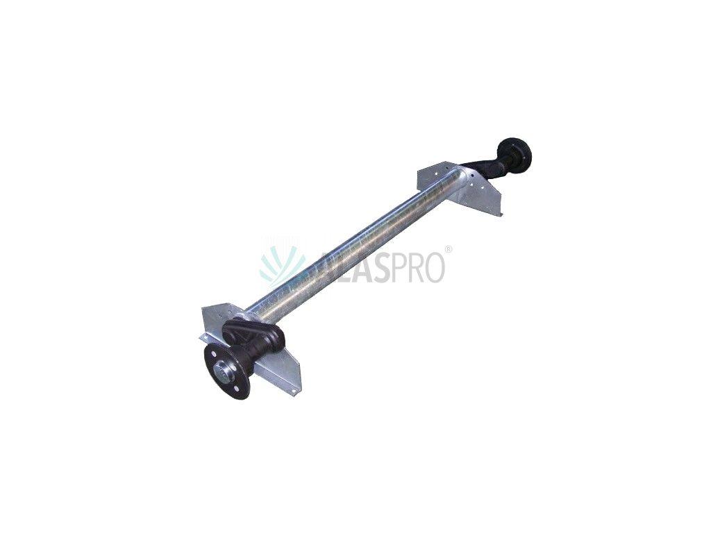 Náprava KNOTT G 13 (1350 kg) b=1237 mm (100x4), vysoké patky, (Vario/Rapid)