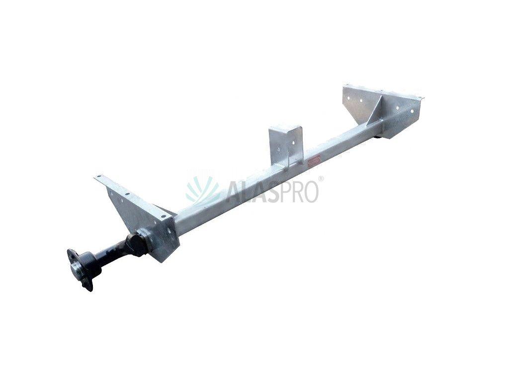 Náprava KNOTT VG 7-L (750 kg) b=1237 mm (100x4), vysoké patky (Vario/Rapid)