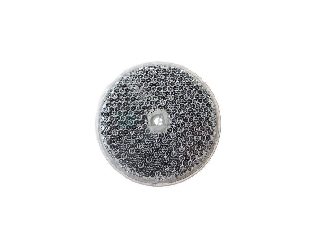 Odrazka bílá pr. 75 mm s otvorem