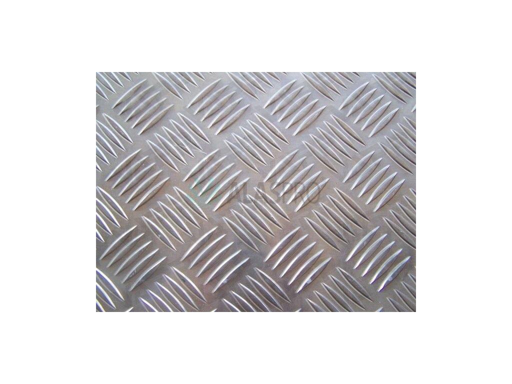 Plech hliníkový AlMg3 protiskluz tl. 4/5,5 mm, tabule 1500 x 3000 mm EN AW 5754-H114