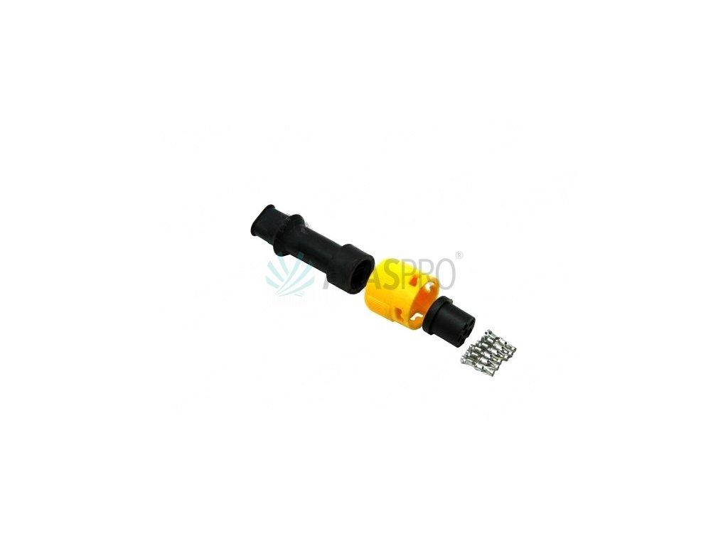 Zástrčka - bajonet Jokon 6-pólový žlutý, 2 vývody
