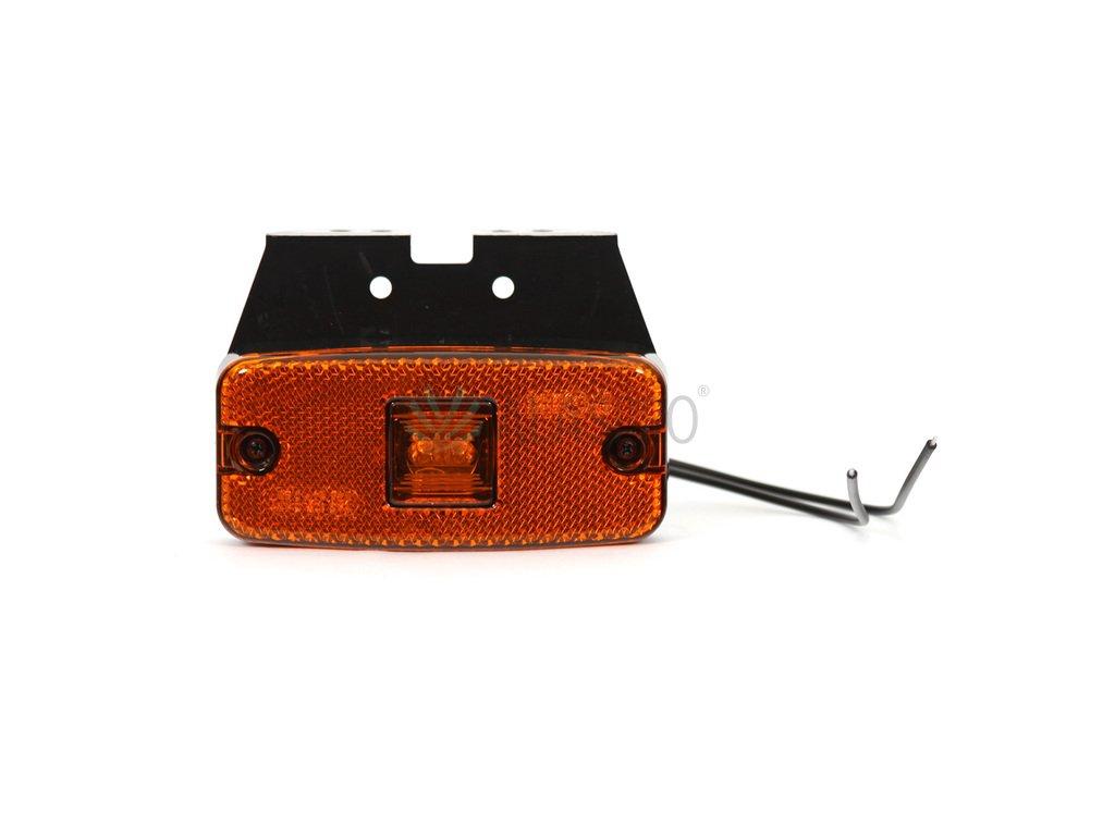 Svítilna boční obrysová LED WAS W46/223, 12-24V na držáku, s odrazkou
