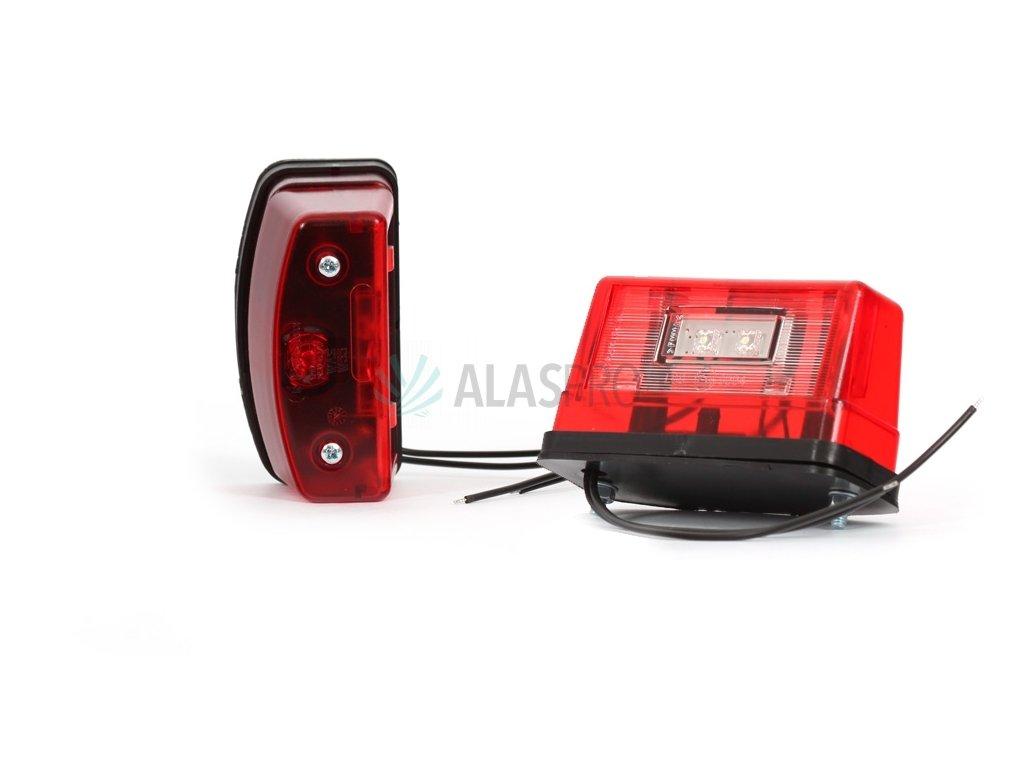 Osvětlení SPZ (registrační značky) LED WAS W55/247 (12-24V) červené