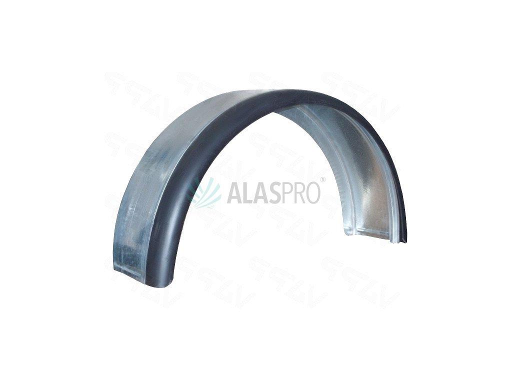 Blatník plechový kombi 14''/220 mm s gumovým lemem, (2.jakost)
