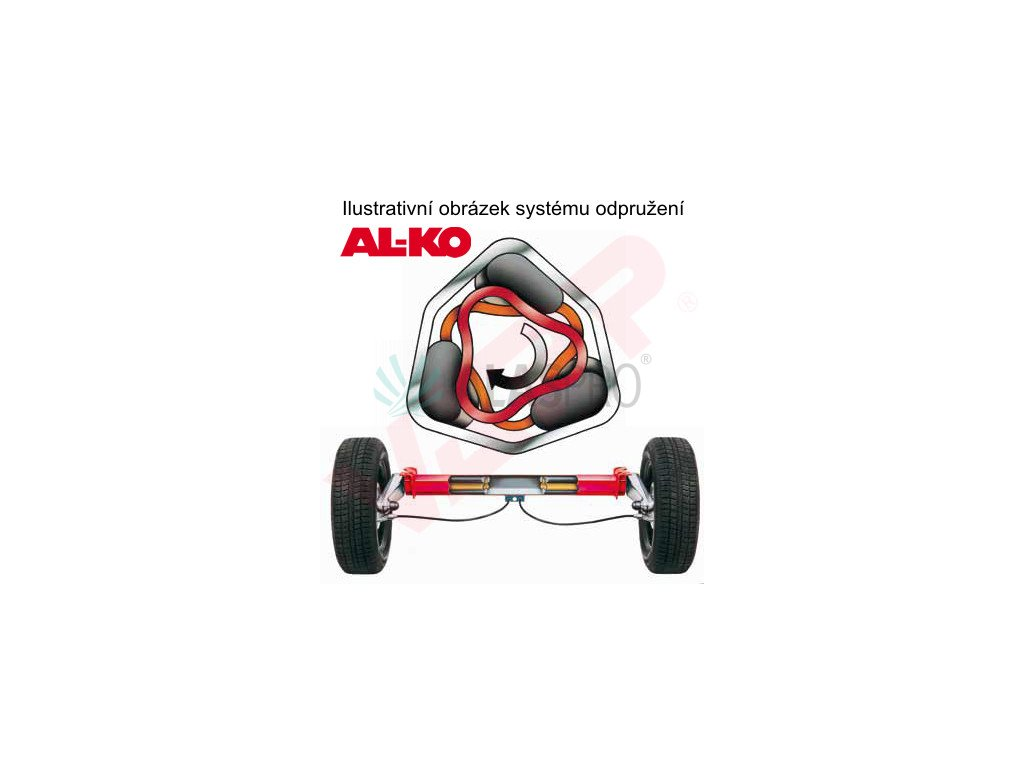 Náprava AL-KO Compact B 850-10 (1000 kg) a=1100 mm, 100x4