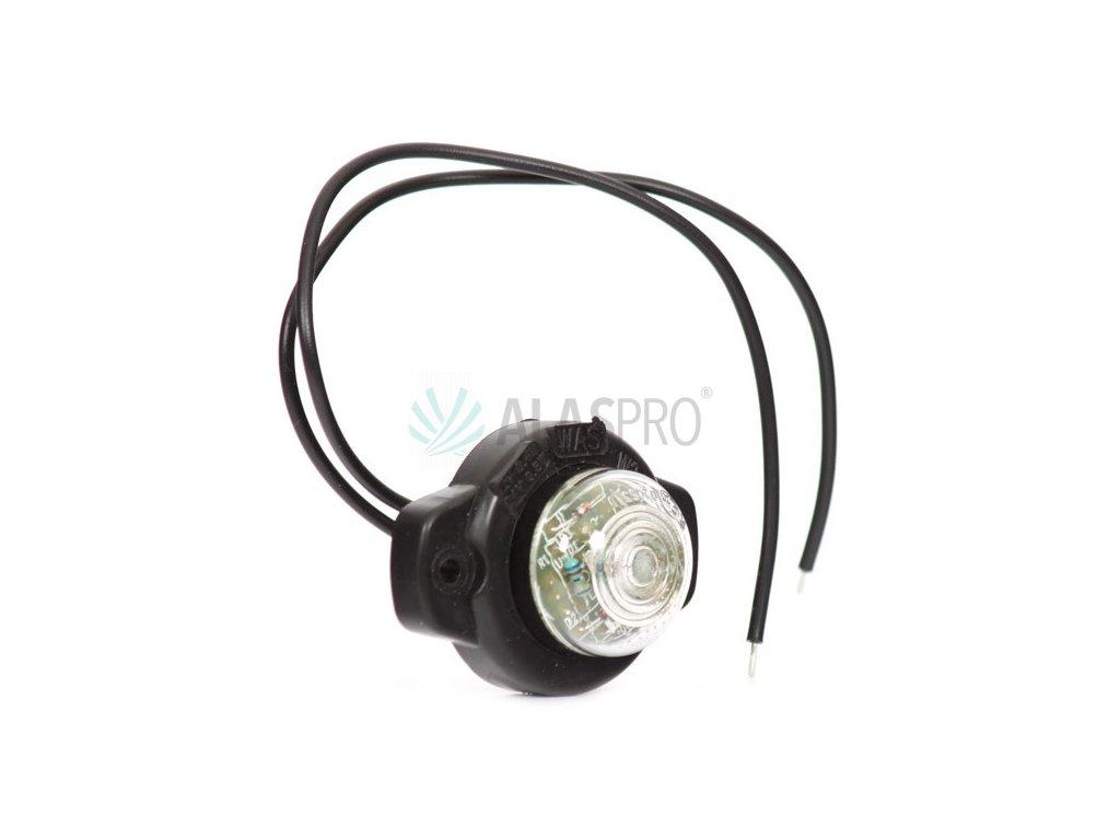 Svítilna přední obrysová LED WAS W24/129, 12-24V, kulatá malá