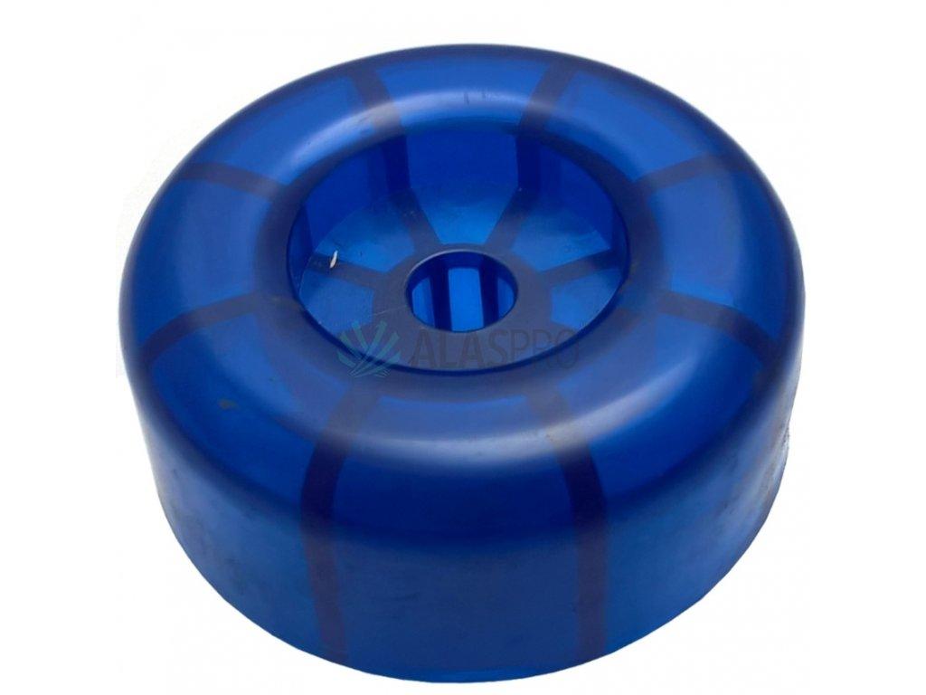Koncovka rolny 4'' modrá PVC, pr. 88 mm, d=14,3 mm, l=35 mm