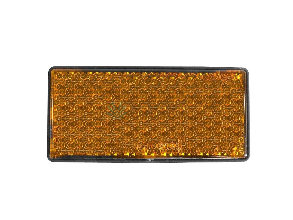 Odrazka oranžová 108x51 mm, samolepicí