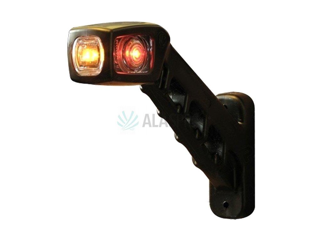 Svítilna doplňková/boční obrysová LED WAS 238L, 12-24V, levá, 187 mm