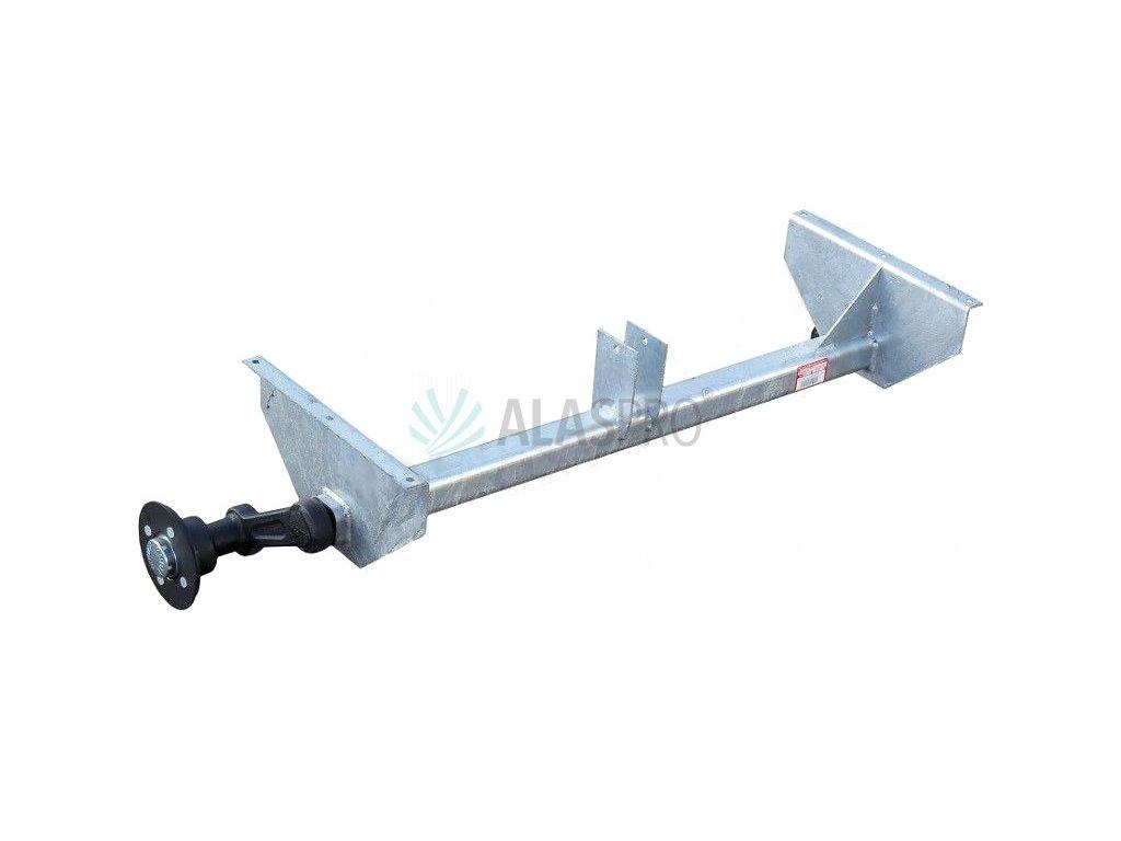 Náprava KNOTT VG 7-L (750 kg) b=1214 mm, c=1530 (100x4), vysoké patky (Sacher)