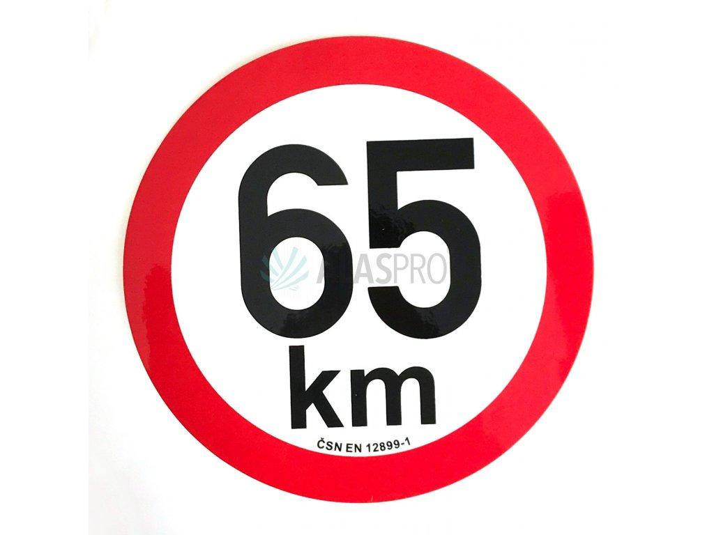 Omezení rychlosti 65 km retroreflexní pr. 200 mm