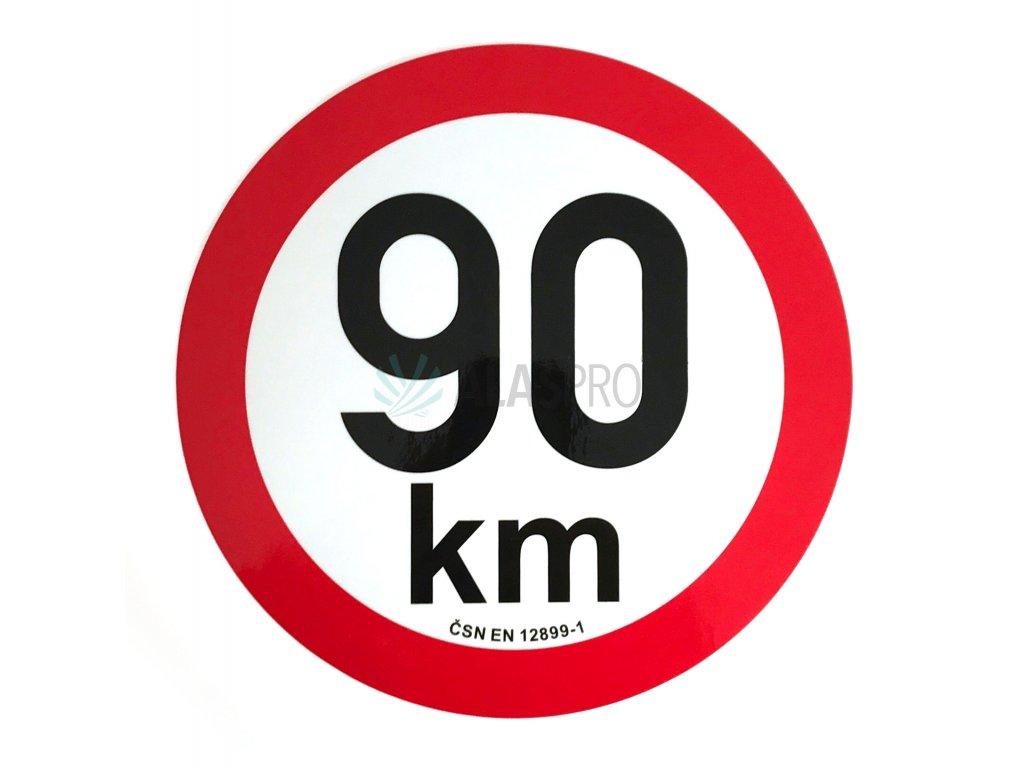 Omezení rychlosti 90 km retroreflexní pr. 200 mm
