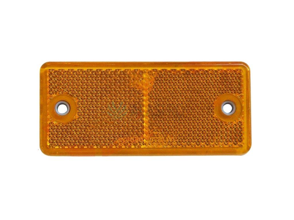 Odrazka oranžová 90x40 mm s otvory