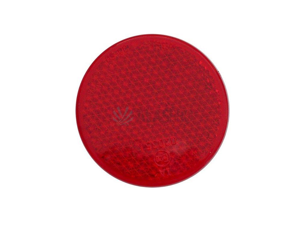 Odrazka červená pr. 63 mm se šroubkem