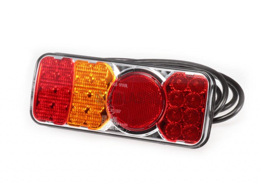 Svítilna WAS W66L/312kr sdružená LED 12-24 V, L-BL/BR/KO/ML/RZ