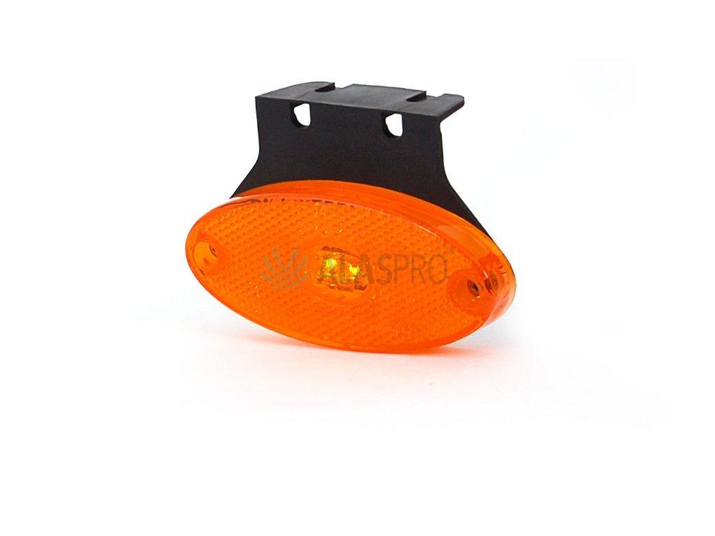 Svítilna boční obrysová LED WAS W64, 12-24V, eliptická na držáku