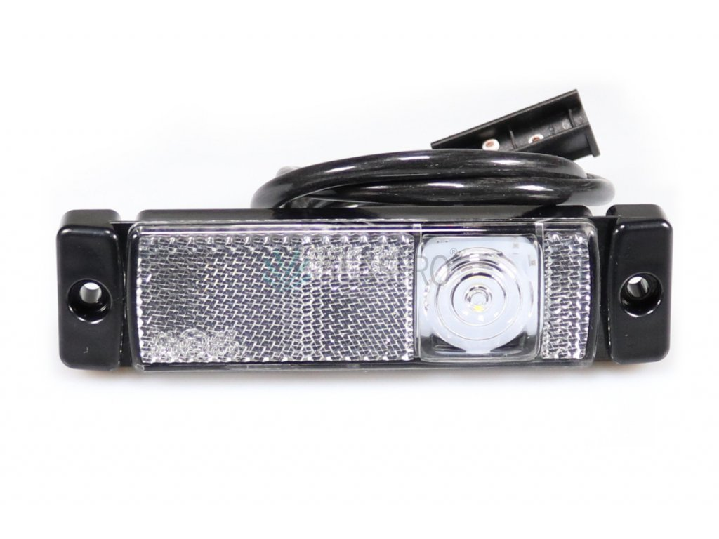 Svítilna přední obrysová LED WAS 222Jw45, 12-24V, s odrazkou, QS150