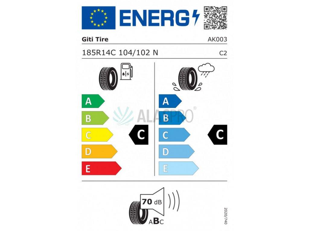 Kolo 185 R14 C 104/102 N Kargomax (900 kg) M+S, 5,5J/ ET30, 112x5