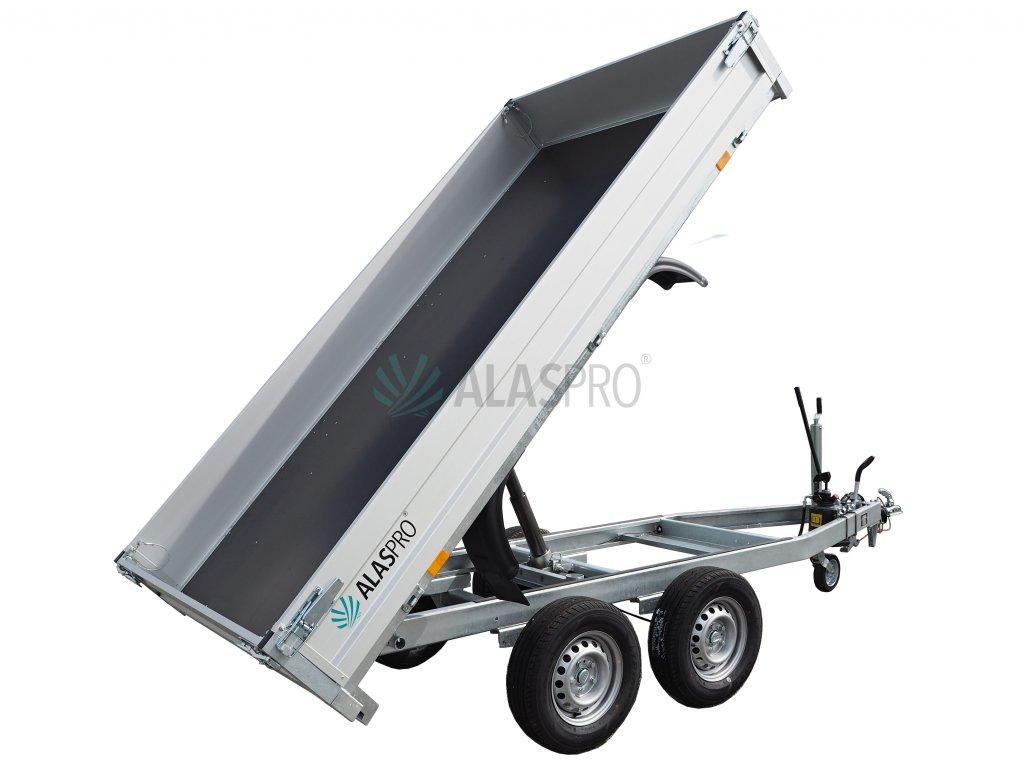 jednostranný sklápěcí přívěsný vozík alaspro