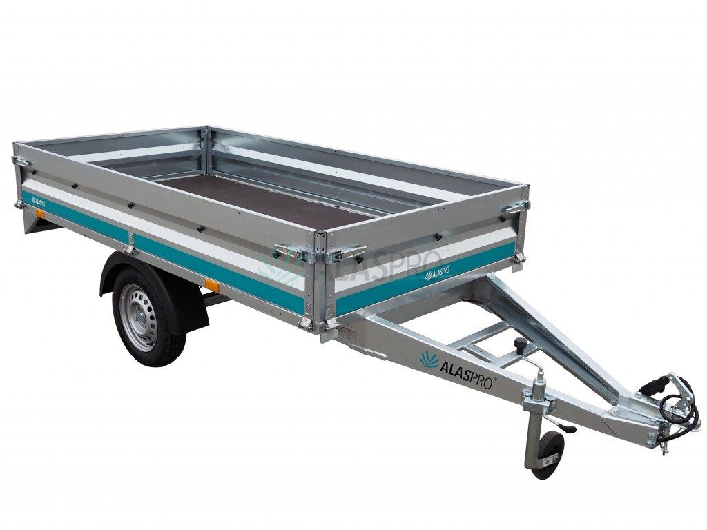 jednoosý přívěsný plechový vozík