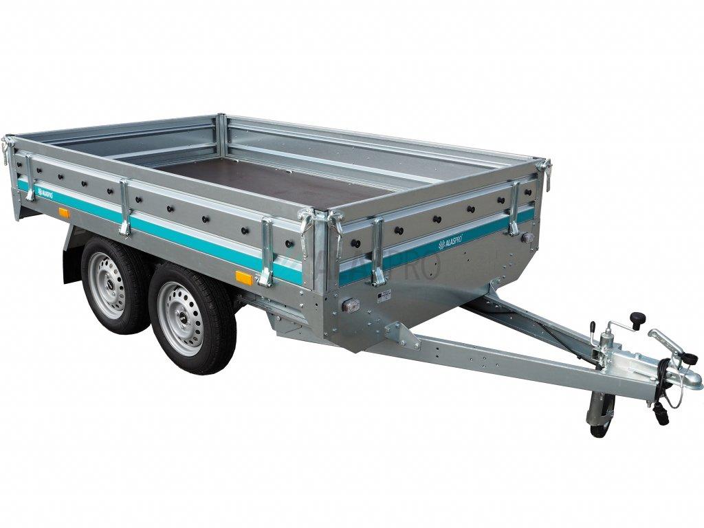 dvousoosý nebrzděný přívěsný vozík 750 kg alaspro