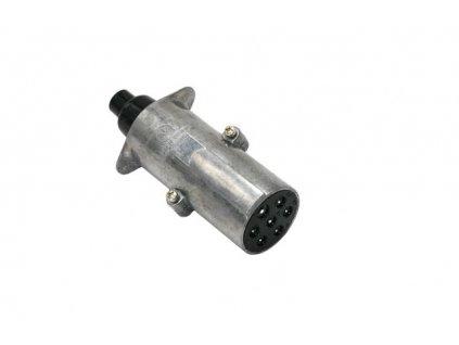Zástrčka - vidlice 7 pól 24V typ N - hlavní (dutinky), kovová