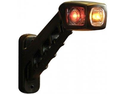 Svítilna doplňková/boční obrysová LED WAS 238P, 12-24V, pravá, 187 mm