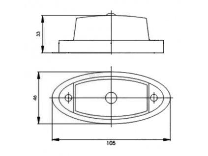 Sklo svítilny GMAK G02 zadní obrysové