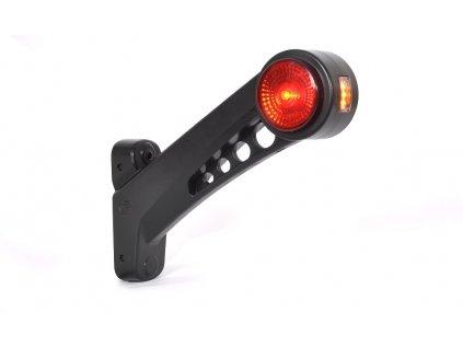 Svítilna doplňková/boční obrysová LED WAS W77.3 RF/579 BCP, 12-24V, pravá