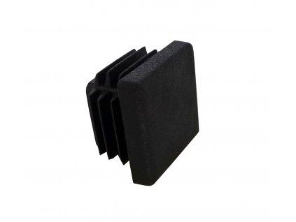 Záslepka do jeklu 25x25 mm černá