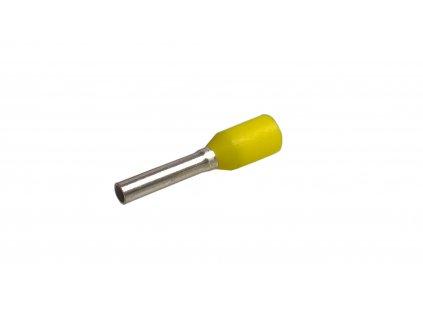 Konektor - dutinka DI 1,0-8 s plastovým límcem žlutá