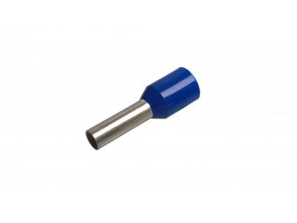 Konektor - dutinka DI 2,5-8 s plastovým límcem modrá