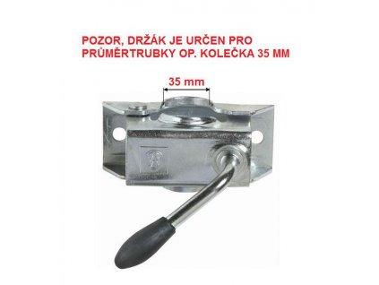 Držák opěrného kolečka 35 mm KLE 35, plech - VÝPRODEJ