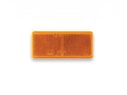 Odrazka oranžová 90x40 mm samolepicí