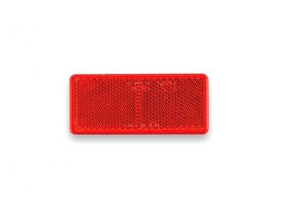 Odrazka červená 90x40 mm samolepicí