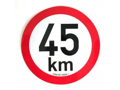 Omezení rychlosti 45 km retroreflexní pr. 200 mm