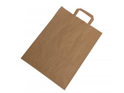 Taška papírová hnědá 31x14x42