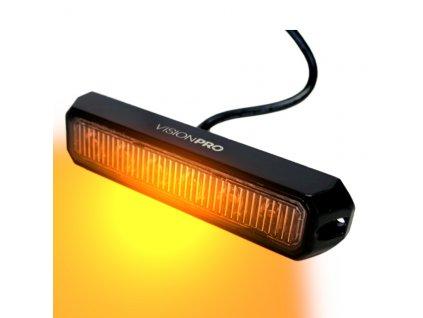 Výstražná záblesková svítilna VISIONPRO, 6x LED, oranžová