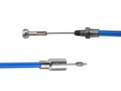 Lanovod brzdový KNOTT nerez 730/920 mm, rychlomont. (s čočkou)