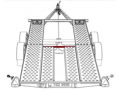 Držák nájezdů VAPP 1052mm PAV 2.0(2.5)/4.0(4.2)/1.92
